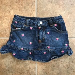 Lilly Pulitzer Pink Apple Denim Skirt / Skort